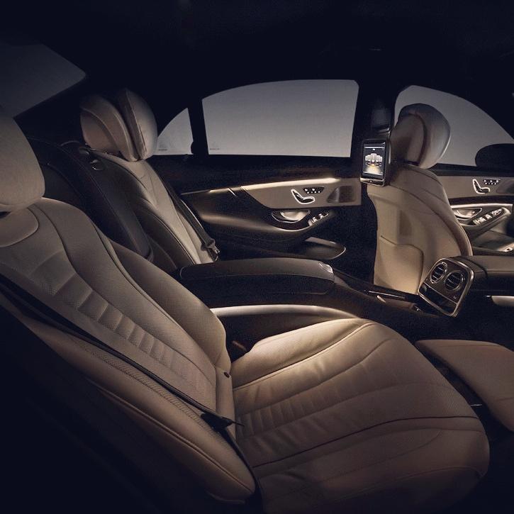 elClaxon interior mercedes S coche de lujo Barcelona